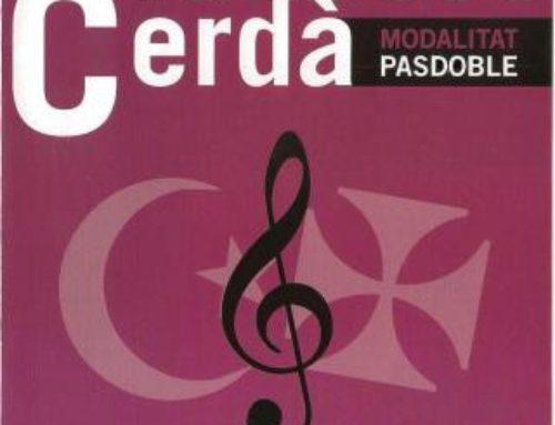 "VI Concurso de Música Festera ""Francesc Cerdá"", modalidad pasodoble. L´OLLERIA"